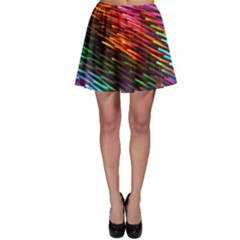 Rainbow Shake Light Line Skater Skirt by Mariart
