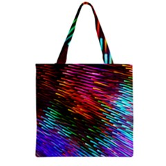 Rainbow Shake Light Line Grocery Tote Bag by Mariart
