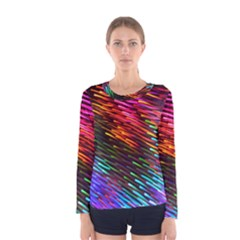 Rainbow Shake Light Line Women s Long Sleeve Tee