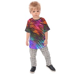 Rainbow Shake Light Line Kids Raglan Tee