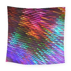 Rainbow Shake Light Line Square Tapestry (large)
