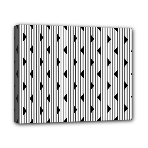 Stripes Line Triangles Vertical Black Canvas 10  X 8
