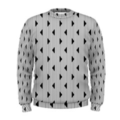 Stripes Line Triangles Vertical Black Men s Sweatshirt