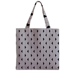 Stripes Line Triangles Vertical Black Zipper Grocery Tote Bag by Mariart