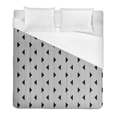 Stripes Line Triangles Vertical Black Duvet Cover (full/ Double Size)