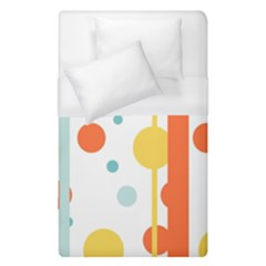 Stripes Dots Line Circle Vertical Yellow Red Blue Polka Duvet Cover (single Size)