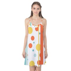 Stripes Dots Line Circle Vertical Yellow Red Blue Polka Camis Nightgown