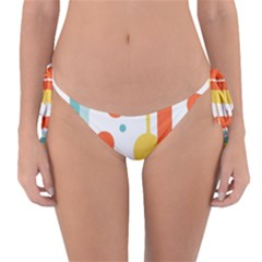 Stripes Dots Line Circle Vertical Yellow Red Blue Polka Reversible Bikini Bottom by Mariart