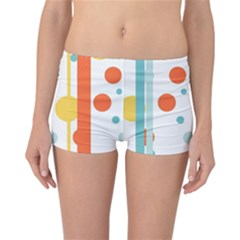 Stripes Dots Line Circle Vertical Yellow Red Blue Polka Reversible Boyleg Bikini Bottoms by Mariart