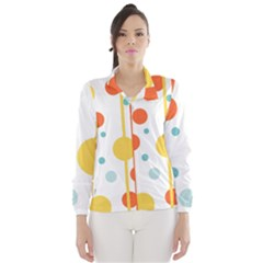 Stripes Dots Line Circle Vertical Yellow Red Blue Polka Wind Breaker (women)