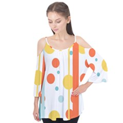 Stripes Dots Line Circle Vertical Yellow Red Blue Polka Flutter Tees by Mariart