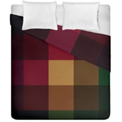 Stripes Plaid Color Duvet Cover Double Side (california King Size) by Mariart