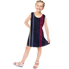 Stripes Line Black Red Kids  Tunic Dress by Mariart