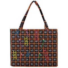 Snakes Ladders Game Plaid Number Mini Tote Bag by Mariart