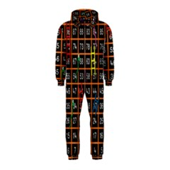 Snakes Ladders Game Plaid Number Hooded Jumpsuit (kids)