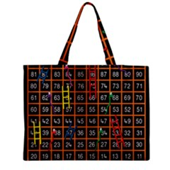 Snakes Ladders Game Plaid Number Medium Tote Bag by Mariart