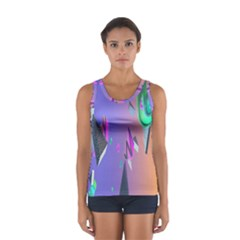 Triangle Wave Rainbow Women s Sport Tank Top  by Mariart