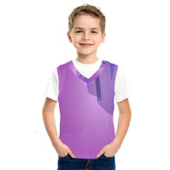 Verre Bleu Wave Chevron Waves Purple Kids  Sportswear