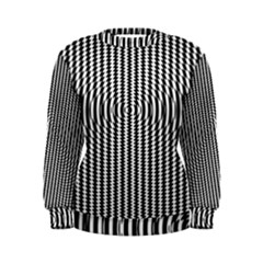 Vertical Lines Waves Wave Chevron Small Black Women s Sweatshirt by Mariart