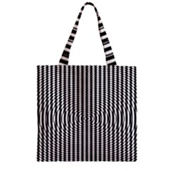Vertical Lines Waves Wave Chevron Small Black Zipper Grocery Tote Bag by Mariart