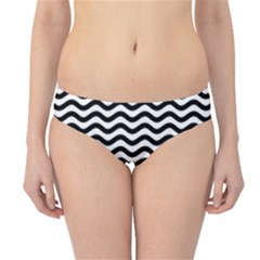 Waves Stripes Triangles Wave Chevron Black Hipster Bikini Bottoms