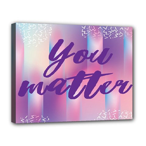You Matter Purple Blue Triangle Vintage Waves Behance Feelings Beauty Canvas 14  X 11  by Mariart