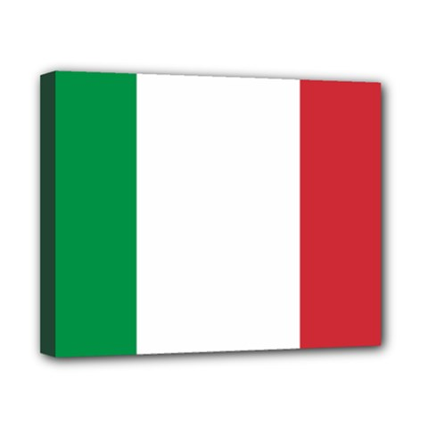 National Flag Of Italy  Canvas 10  X 8