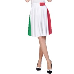 National Flag Of Italy  A-line Skirt by abbeyz71
