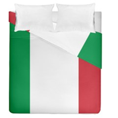 National Flag Of Italy  Duvet Cover Double Side (queen Size) by abbeyz71