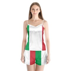 National Flag Of Italy  Satin Pajamas Set by abbeyz71