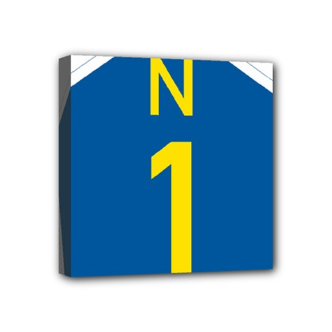 South Africa National Route N1 Marker Mini Canvas 4  X 4  by abbeyz71