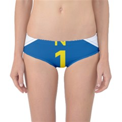 South Africa National Route N1 Marker Classic Bikini Bottoms by abbeyz71
