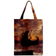 Steampunk Fractalscape, A Ship For All Destinations Zipper Classic Tote Bag by jayaprime