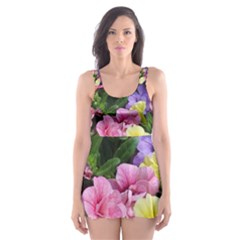 Lovely Flowers 17 Skater Dress Swimsuit