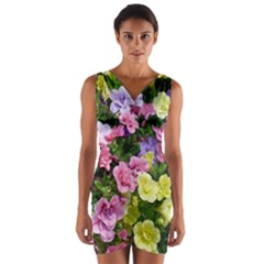 Lovely Flowers 17 Wrap Front Bodycon Dress