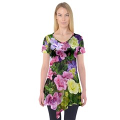 Lovely Flowers 17 Short Sleeve Tunic