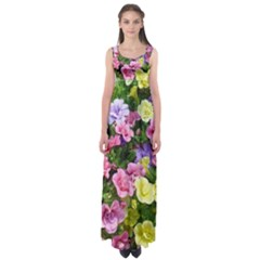Lovely Flowers 17 Empire Waist Maxi Dress