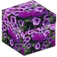 Wonderful Lilac Flower Mix Storage Stool 12