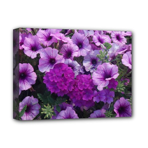 Wonderful Lilac Flower Mix Deluxe Canvas 16  X 12