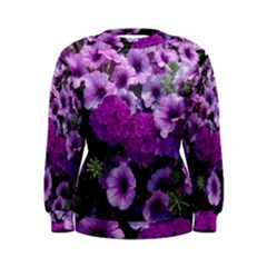 Wonderful Lilac Flower Mix Women s Sweatshirt