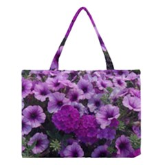 Wonderful Lilac Flower Mix Medium Tote Bag by MoreColorsinLife
