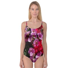 Wonderful Pink Flower Mix Camisole Leotard