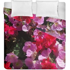 Wonderful Pink Flower Mix Duvet Cover Double Side (king Size)