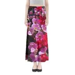 Wonderful Pink Flower Mix Maxi Skirts