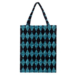 Diamond1 Black Marble & Blue Green Water Classic Tote Bag by trendistuff