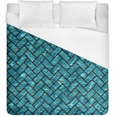Brick2 Black Marble & Blue Green Water (r) Duvet Cover (king Size) by trendistuff