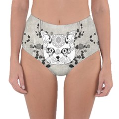 Wonderful Sugar Cat Skull Reversible High Waist Bikini Bottoms by FantasyWorld7