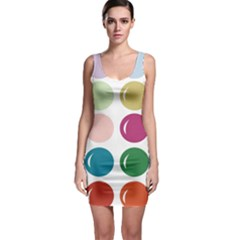 Brights Pastels Bubble Balloon Color Rainbow Sleeveless Bodycon Dress