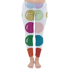 Brights Pastels Bubble Balloon Color Rainbow Classic Winter Leggings by Mariart