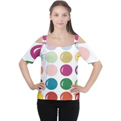 Brights Pastels Bubble Balloon Color Rainbow Women s Cutout Shoulder Tee by Mariart